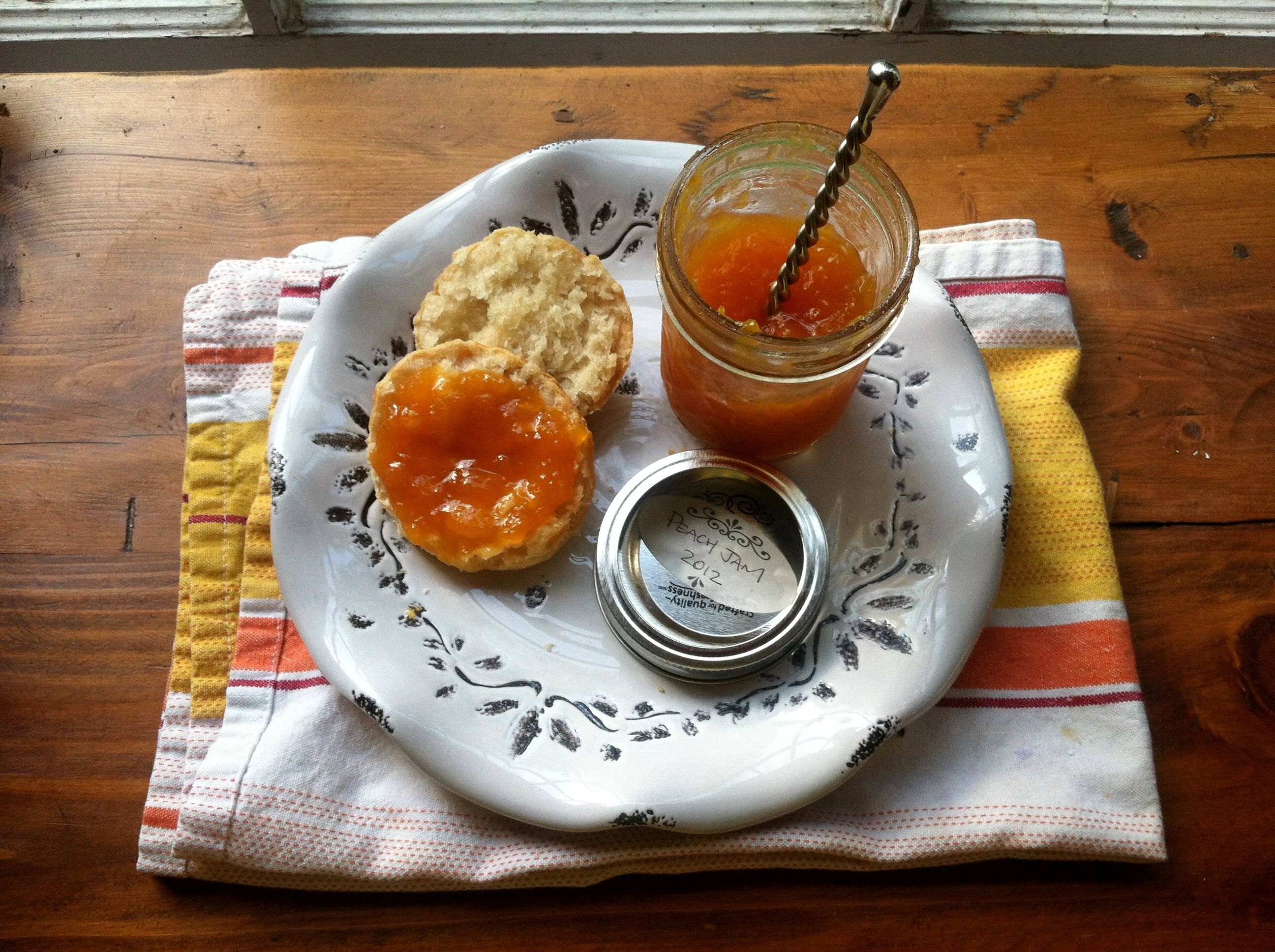 Peach jam no pectin for Peach preserves no pectin
